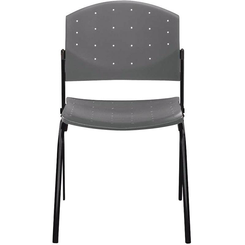 Dauphin Chairs Eddy 4 Post Black Stack Side Chair